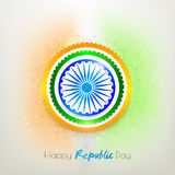 Sticker or label for Indian Republic Day. Stock Images