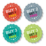 Sticker or Label For Marketing Campaign Royalty Free Stock Photo