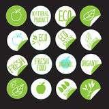 Sticker label natural products Stock Images