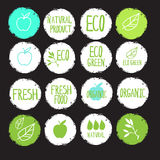 Sticker label natural products Royalty Free Stock Photo