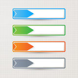Sticker label paper colorful set,  Stock Images