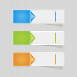 Sticker label paper colorful set Stock Image