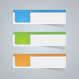 Sticker label paper colorful set Royalty Free Stock Photo