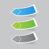 Sticker label paper colorful set Royalty Free Stock Photos