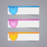 Sticker label paper colorful set Stock Photography