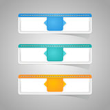 Sticker label paper colorful set Royalty Free Stock Images