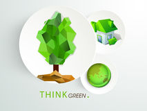 Sticker or label for Save environment concept. Royalty Free Stock Photos