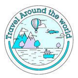 Sticker or label for Tour and Travel. Royalty Free Stock Images