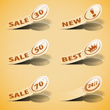 Sticker Labels Royalty Free Stock Image
