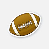 Sticker leather American football ball Royalty Free Stock Photos