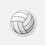 Sticker leather volleyball ball Royalty Free Stock Photos