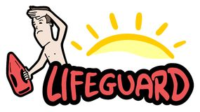Sticker lifeguard Stock Image
