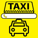 Sticker, logo or icon Taxi service Royalty Free Stock Photos