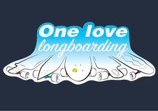 Sticker 5 longboards Stock Image