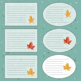 Sticker with Maple Leaf. Vector Royalty Free Stock Images