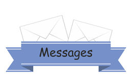 Sticker messages Royalty Free Stock Photography