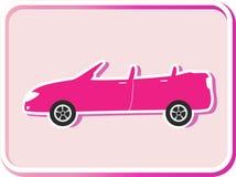Sticker met cabriolet beeld Stock Afbeeldingen