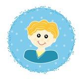 Sticker met jongen Stock Afbeeldingen