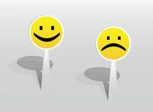 Sticker met twee glimlachen Stock Afbeeldingen