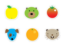 Sticker mix stock illustration