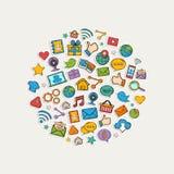 Sticker mobile apps set Stock Photo