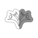 sticker of monochrome abstract contour of family group Stock Image