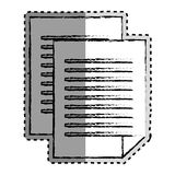 Sticker monochrome blurred of document file Stock Photography