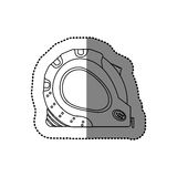sticker monochrome line contour of tape measure tool Royalty Free Stock Images