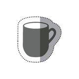 sticker monochrome silhouette big mug with handle Vector Illustration
