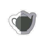 sticker monochrome silhouette teapot icon drink Stock Images
