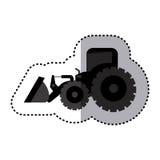 Sticker monochrome tractor loader building machine Stock Photography