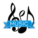 Sticker music Royalty Free Stock Images