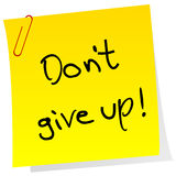 Sticker note with inspiring message Don't give up Stock Photo