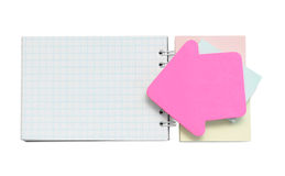 Sticker and notepad Royalty Free Stock Photography