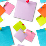 Sticker notes seamless wallpaper Royalty Free Stock Images