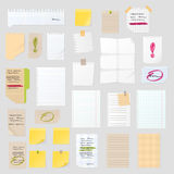 Sticker notes vector illustration. Stock Images