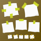 Sticker notes on wood Royalty Free Stock Image