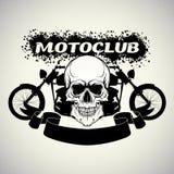 Sticker op het overhemd motoclub vector illustratie