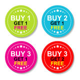 Sticker Or Label For Marketing Campaign Royalty Free Stock Images