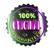 Sticker original guaranteed. Holographic sticker guaranteeing the quality and authenticity of the product Royalty Free Stock Images