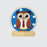 Sticker owl Royalty Free Stock Photo