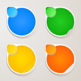 Sticker paper colors set Royalty Free Stock Photos