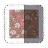 sticker pattern roses and butterflies design Royalty Free Stock Image