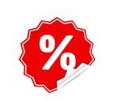 Sticker percent Stock Photos