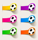 Sticker with a picture of a soccer ball Stock Photography