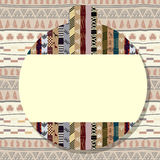 Sticker with a picture of traditional African Tribal elements Royalty Free Stock Photography