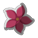 Sticker pink silhouette figure flower icon floral Royalty Free Stock Images