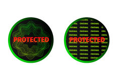 Sticker protected Royalty Free Stock Photo