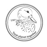 Sticker on the protection and recovery of the planet, to join fo Royalty Free Stock Photography