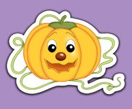 Sticker pumpkin Royalty Free Stock Images